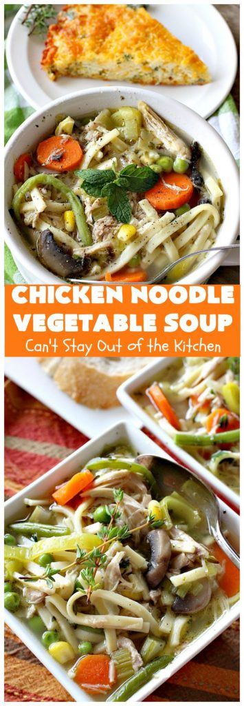 Chicken Noodle Vegetable Soup | Can't Stay Out of the Kitchen