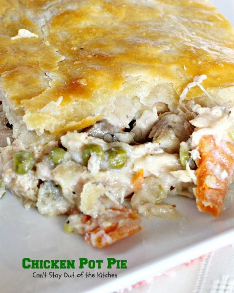 Chicken Pot Pie | Can't Stay Out of the Kitchen | fantastic #chickenpotpie with #carrots #mushrooms and #peas. Great #freezermeal. #chicken