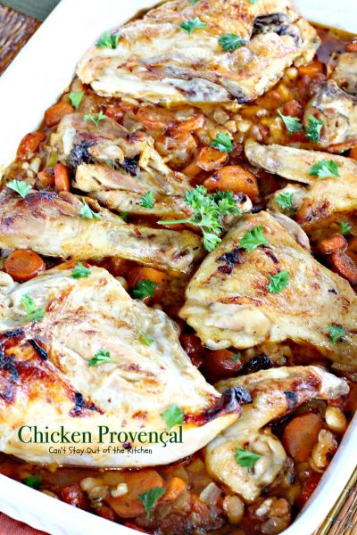 Chicken Provençal | Can't Stay Out of the Kitchen | We love this easy and delicious French-style #chicken #casserole. #glutenfree #tomatoes