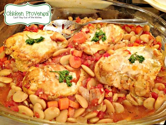 Chicken Provencal | Can't Stay Out of the Kitchen | the tasty one-dish #chicken dish is incredibly good. #glutenfree #butterbeans #tomatoes