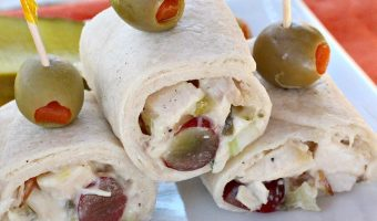 Chicken Salad Wraps with Grapes and Pecans