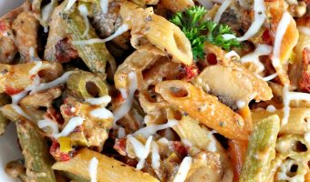 Chicken Sun-Dried Tomato and Mushroom Pasta