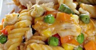 Chicken and Biscuit Casserole | Can't Stay Out of the Kitchen | our favorite #chicken #veggie and #noodle #casserole.