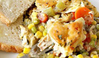 Chicken and Dumpling Casserole with Veggies