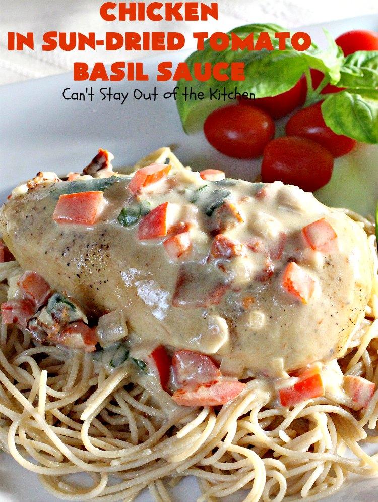 Chicken in Sun-Dried Tomato Basil Sauce