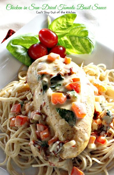 Chicken in Sun-Dried Tomato Basil Sauce | Can't Stay Out of the Kitchen