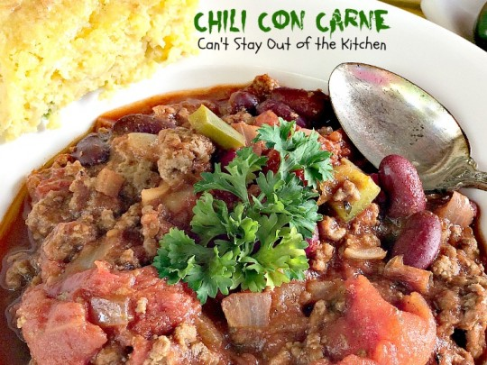 Chili Con Carne - Can't Stay Out of the Kitchen