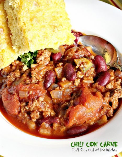 Chili Con Carne | Can't Stay Out of the Kitchen