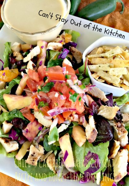 Chili's Caribbean Salad Copycat Recipe and Honey-Lime Dressing | Can't Stay Out of the Kitchen