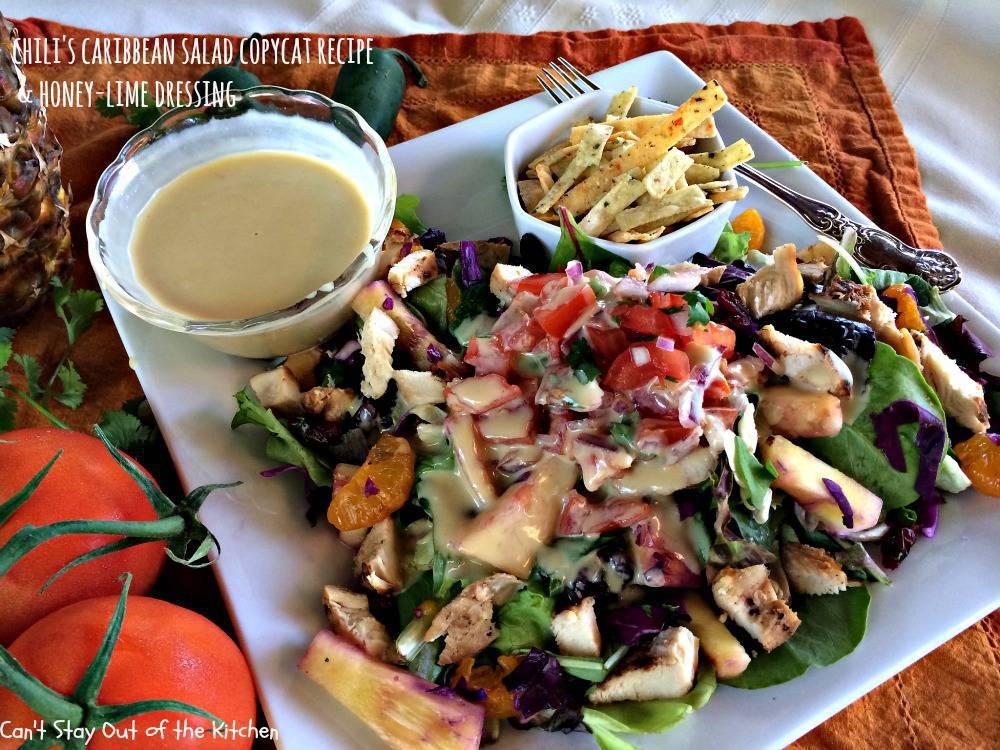 Chili's Caribbean Salad Copycat Recipe & Honey-Lime Dressing