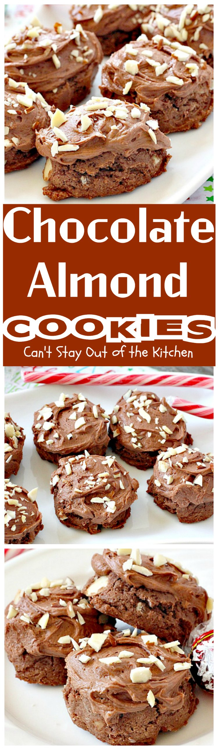 Chocolate Almond Cookies - Can't Stay Out of the Kitchen