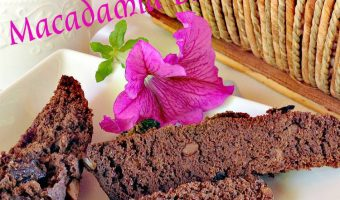 Chocolate Cherry Macadamia Biscotti
