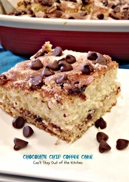 Chocolate Chip Coffee Cake has a delicious chocolate chip streusel ...