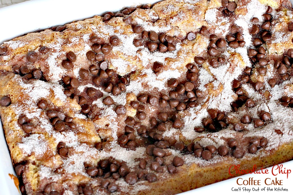 cinnamon chocolate chip coffee cake recipe