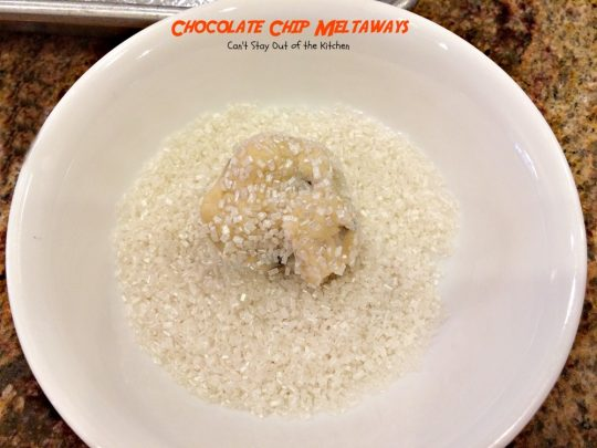 Chocolate Chip Meltaways | Can't Stay Out of the Kitchen | these lovely #cookies just dissolve in your mouth when you eat them! #chocolate #dessert