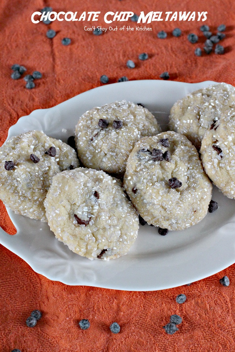 Chocolate chip meltaway cookies recipe