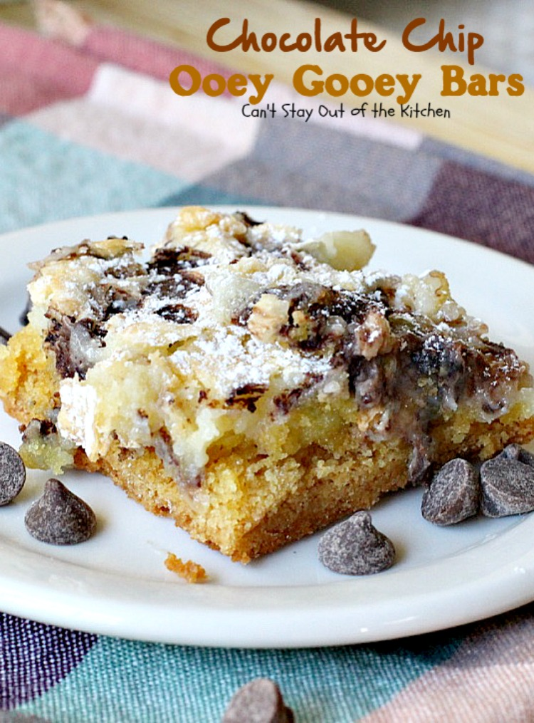 Chocolate Chip Ooey Gooey Bars Can T Stay Out Of The Kitchen