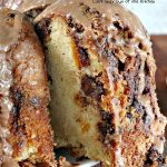 Chocolate Chip Peach Pound Cake | Can't Stay Out of the Kitchen