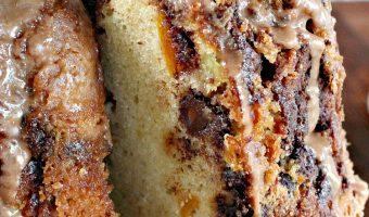 Chocolate Chip Peach Pound Cake