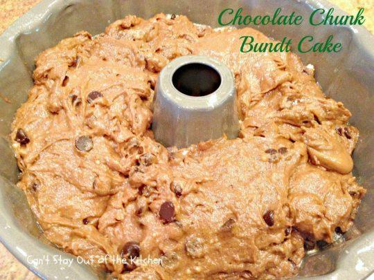 Chocolate Chunk Bundt Cake - IMG_0796