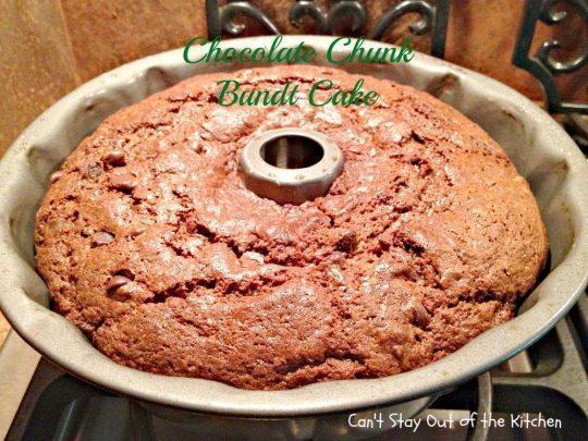 Chocolate Chunk Bundt Cake - IMG_0888