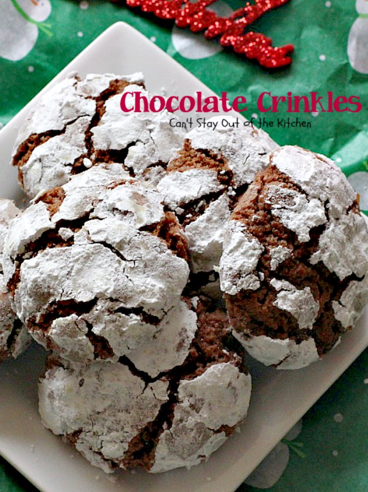 Chocolate Crinkles | Can't Stay Out of the Kitchen | these are one of our all-time favorite #christmas #cookies. These use #Ghirardelli #chocolate and are to die for! #dessert