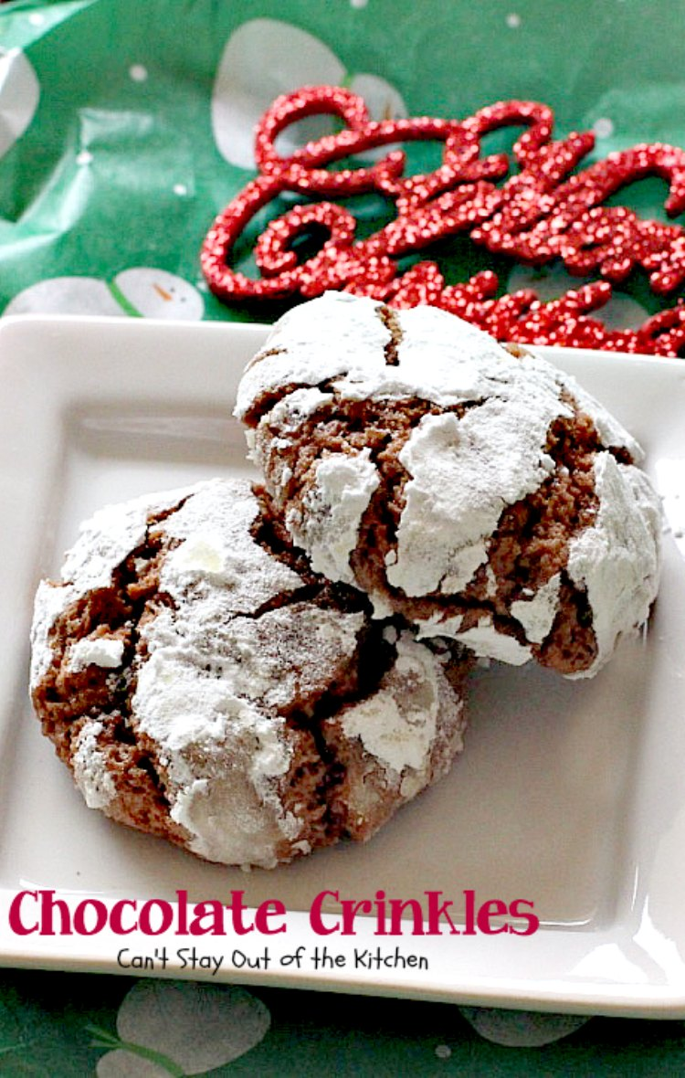 Chocolate Crinkles - Can't Stay Out of the Kitchen