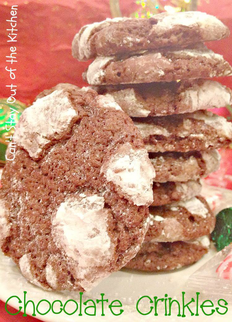 Chocolate Crinkles Cookies With Cake Mix