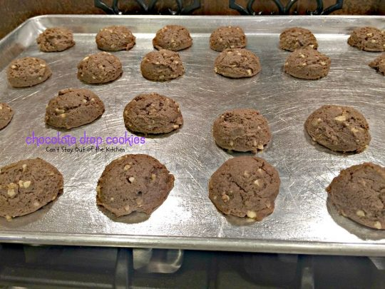 Chocolate Drop Cookies | Can't Stay Out of the Kitchen | my favorite #cookie when I was growing up. These scrumptious goodies taste like #brownies in cookie form! #chocolate #dessert