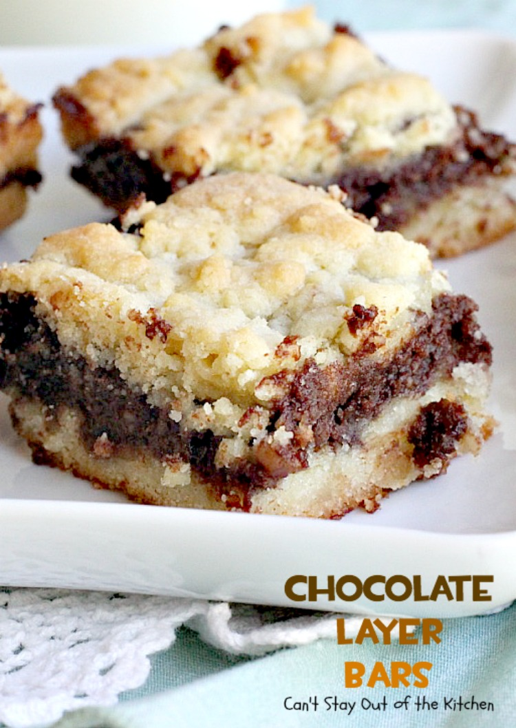 Chocolate Layer Bars | Can't Stay Out of the Kitchen