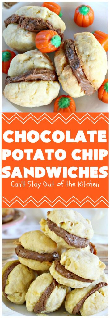 Chocolate Potato Chip Sandwiches | Can't Stay Out of the Kitchen