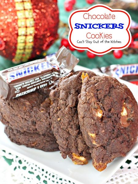 Chocolate Snickers Cookies - IMG_9709