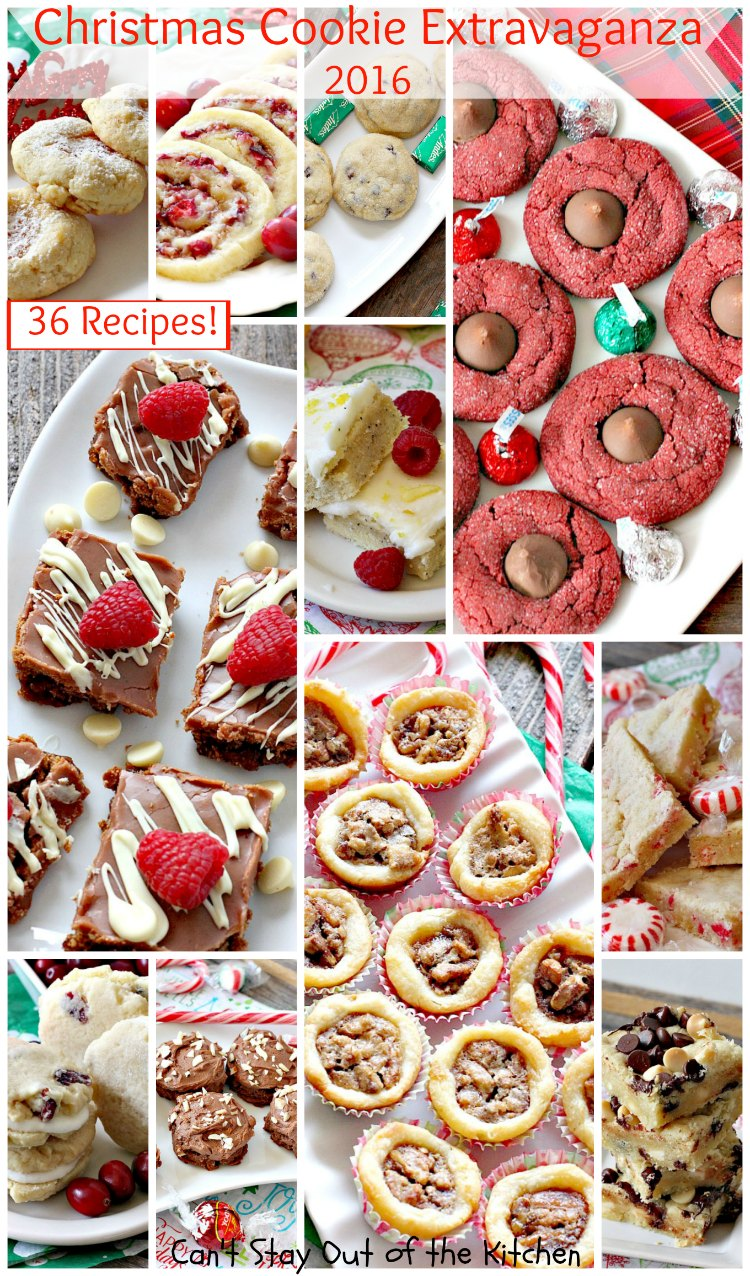 Christmas Cookie Extravaganza - 2016 | Can't Stay Out of the Kitchen | 36 family favorite #Christmas #cookies for #holiday baking. #dessert