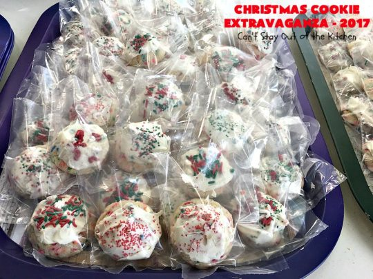 Christmas Cookie Extravaganza - 2017 | Can't Stay Out of the Kitchen | 20 different #Christmas #cookie recipes with step-by-step directions on packing #holiday cookies for shipping. #dessert #lemon #chocolate #strawberry #raspberry #cherry #Oreo #M&Ms #Butterfingers #funfetti