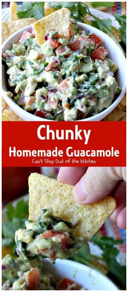 Chunky Homemade Guacamole | Can't Stay Out of the Kitchen