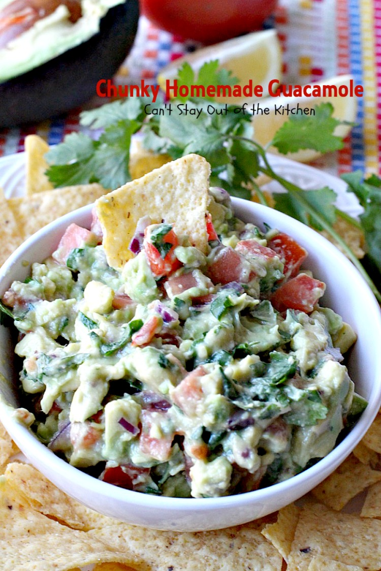 Chunky Homemade Guacamole Can 39 T Stay Out Of The Kitchen