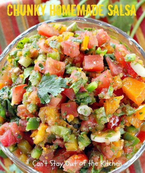 Chunky Homemade Salsa - IMG_0091