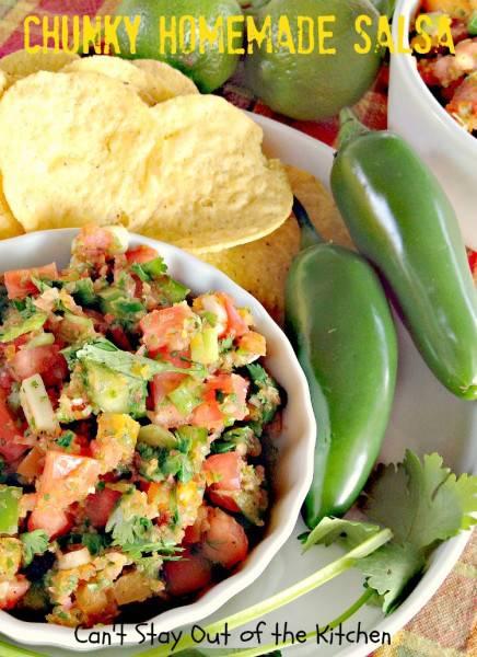 how to make homemade salsa thicker