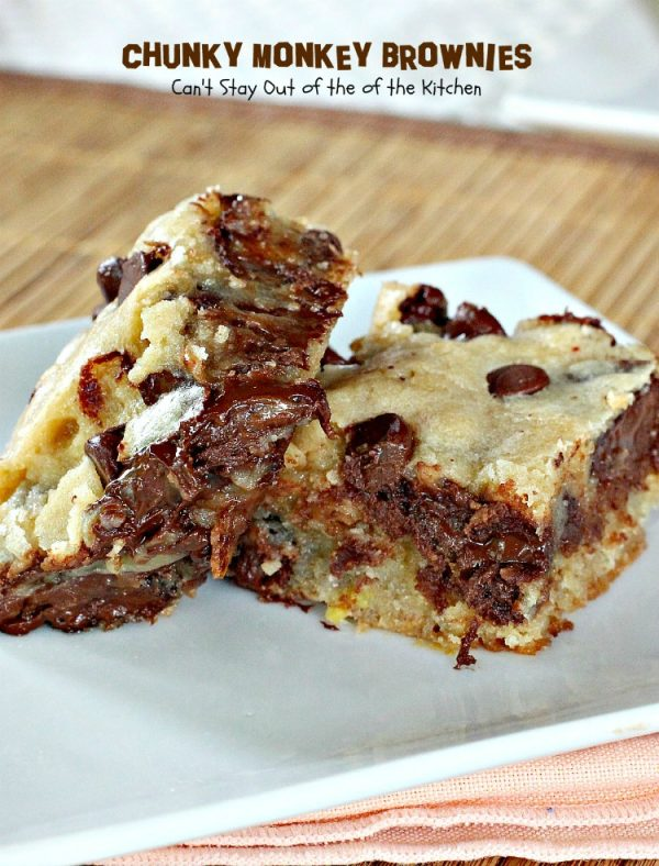 Chunky Monkey Brownies | Can't Stay Out of the Kitchen