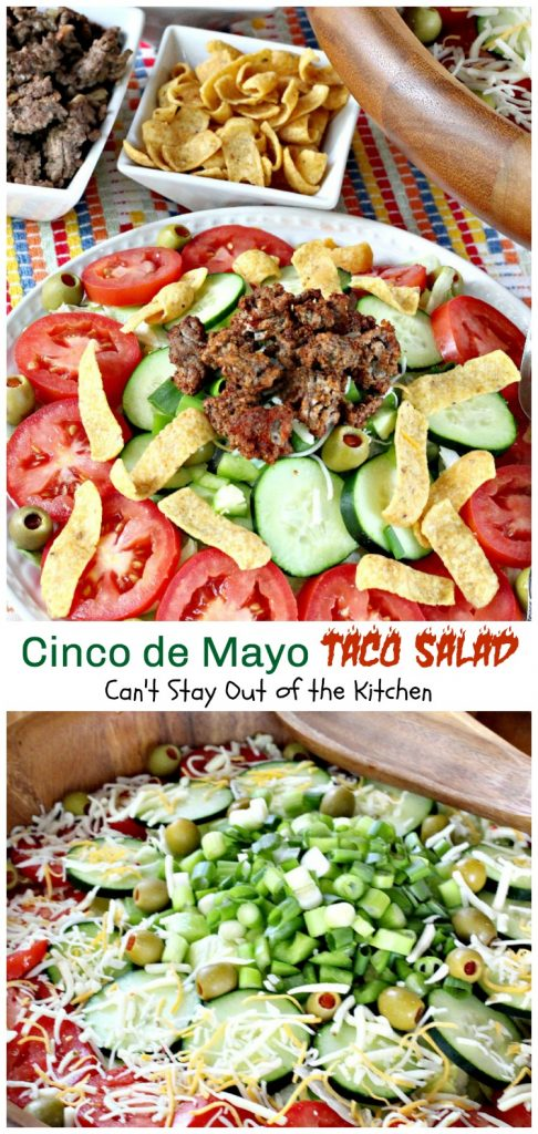 Cinco de Mayo Taco Salad | Can't Stay Out of the Kitchen