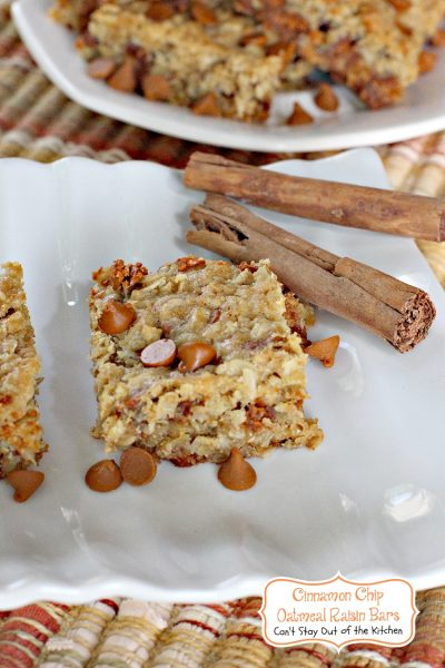 Cinnamon Chip Oatmeal Raisin Bars Can T Stay Out Of The