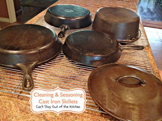 Cleaning and Seasoning Cast Iron Skillets - Recipe Pix 5 - 415