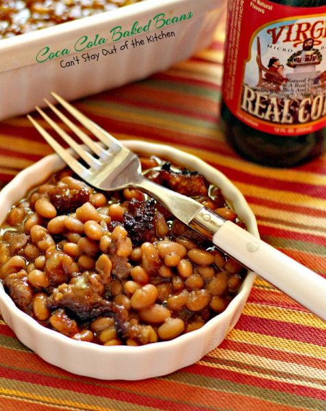 Coca Cola Baked Beans | Can't Stay Out of the Kitchen | this is a healthier version that uses Virgil's natural #cola #groundturkeysausage and #molasses. #bakedbeans