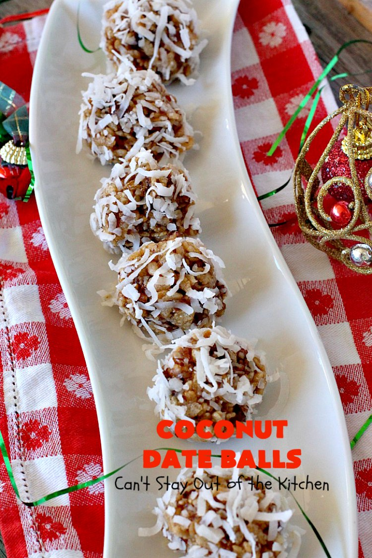 Coconut Date Balls Cant Stay Out Of The Kitchen