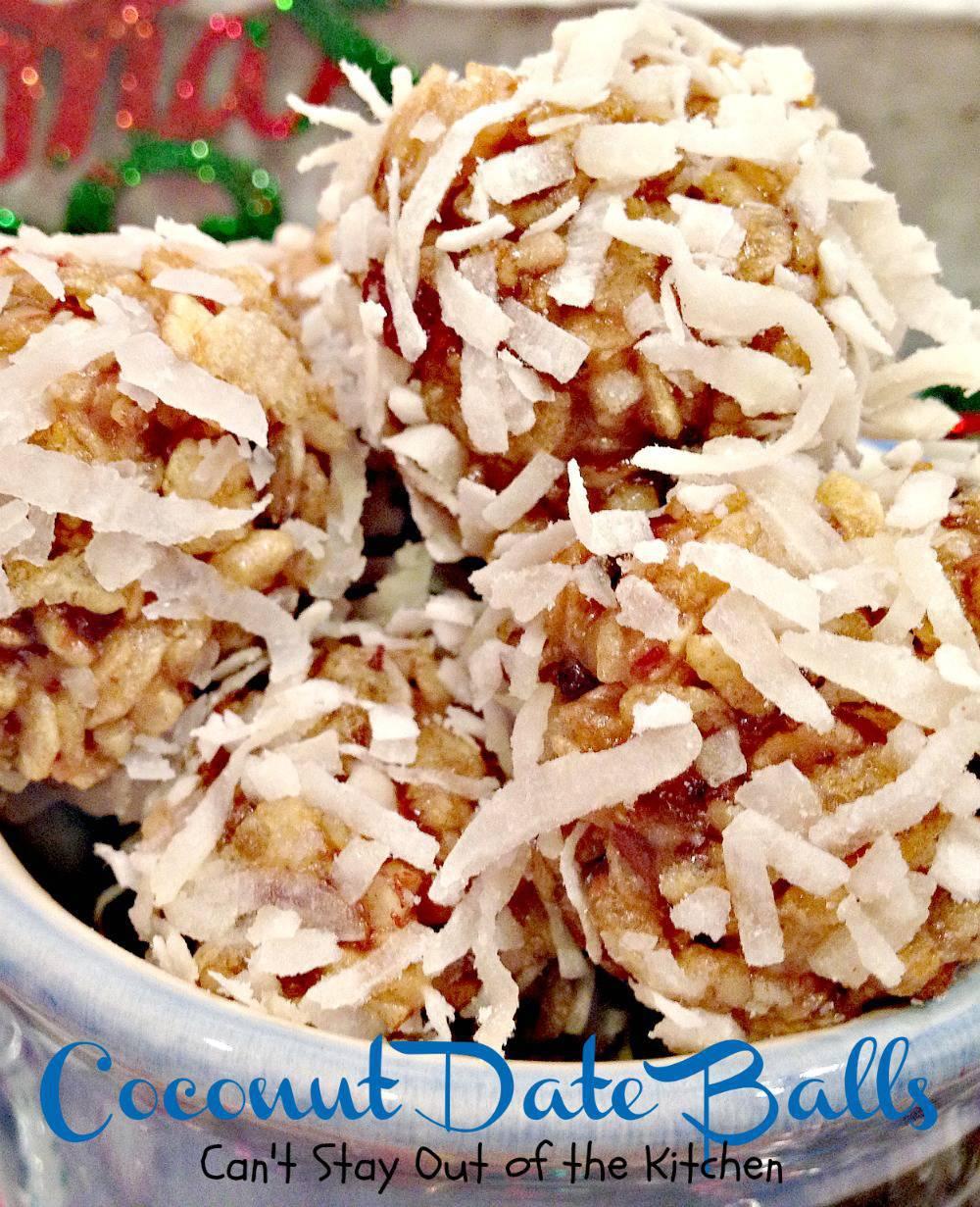 Coconut Date Balls | RecipesPlus