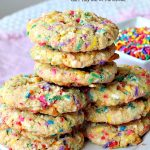Coconut Funfetti Cookies | Can't Stay Out of the Kitchen