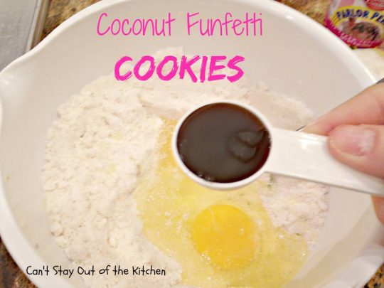 Pour cake mix into a mixing bowl. Add baking powder and UNBLEACHED all ...