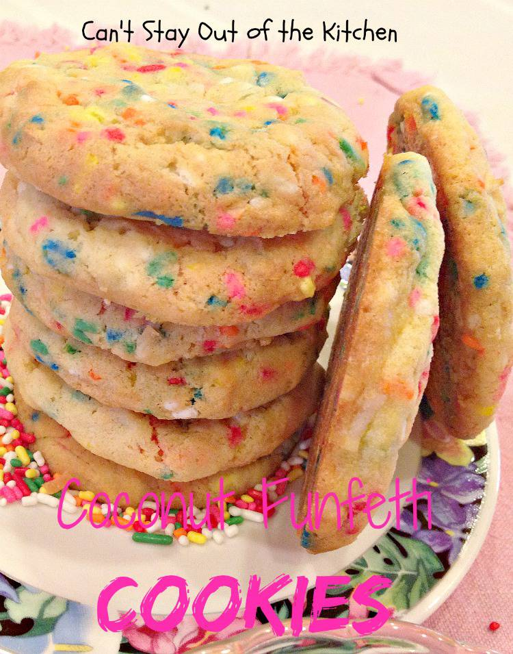 Coconut Funfetti Cookies are to die for!