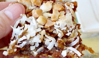 Coconut Macadamia Blondies