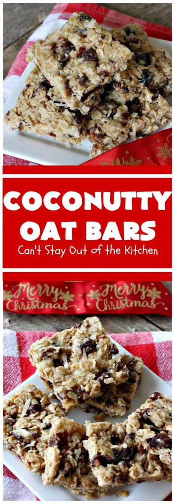Coconutty Oat Bars | Can't Stay Out of the Kitchen